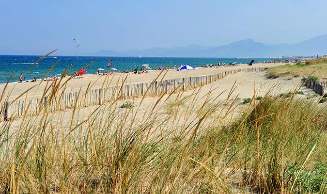 plage de sable dans les Pyrénées Orientales